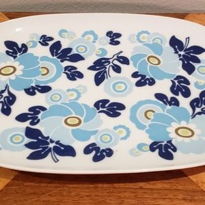 mid century mod floral platter Germany 1960's